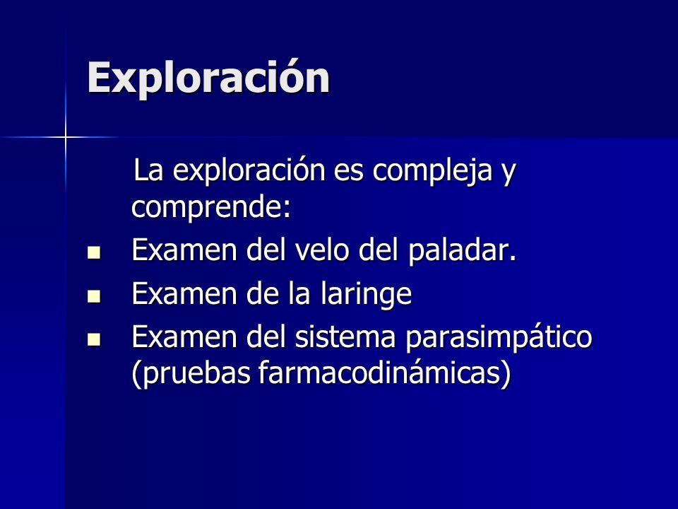 Exploración La exploración es compleja y comprende: