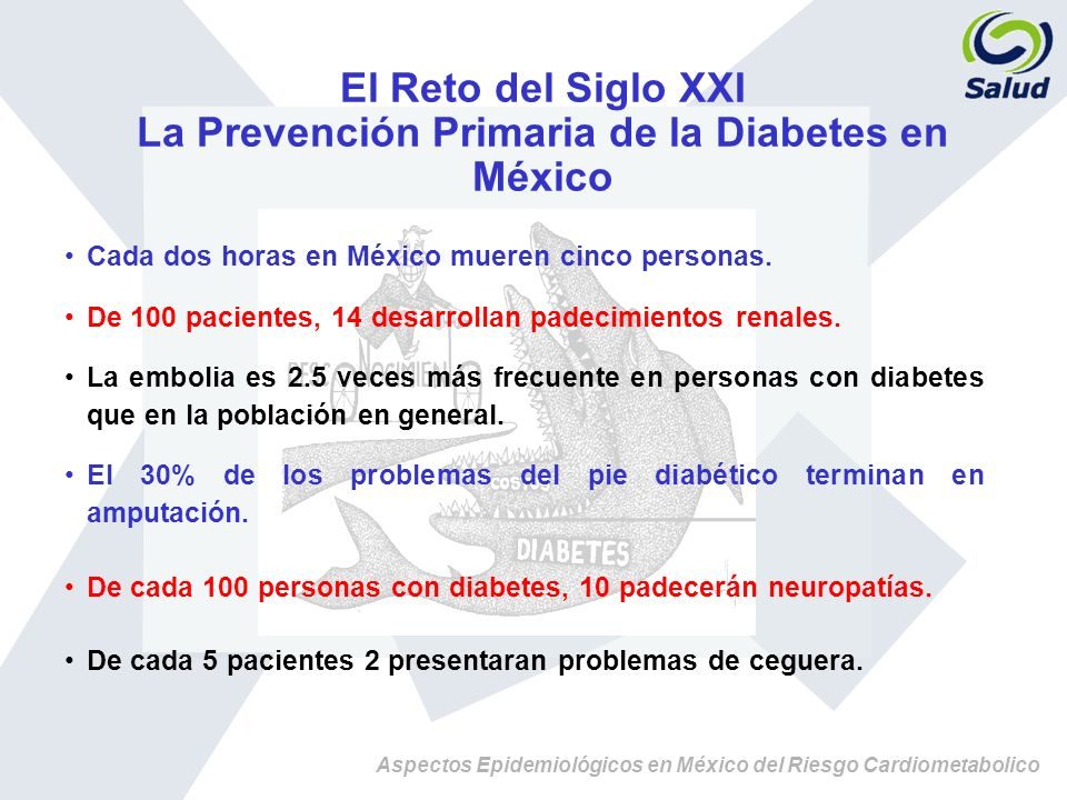 La Prevención Primaria de la Diabetes en México