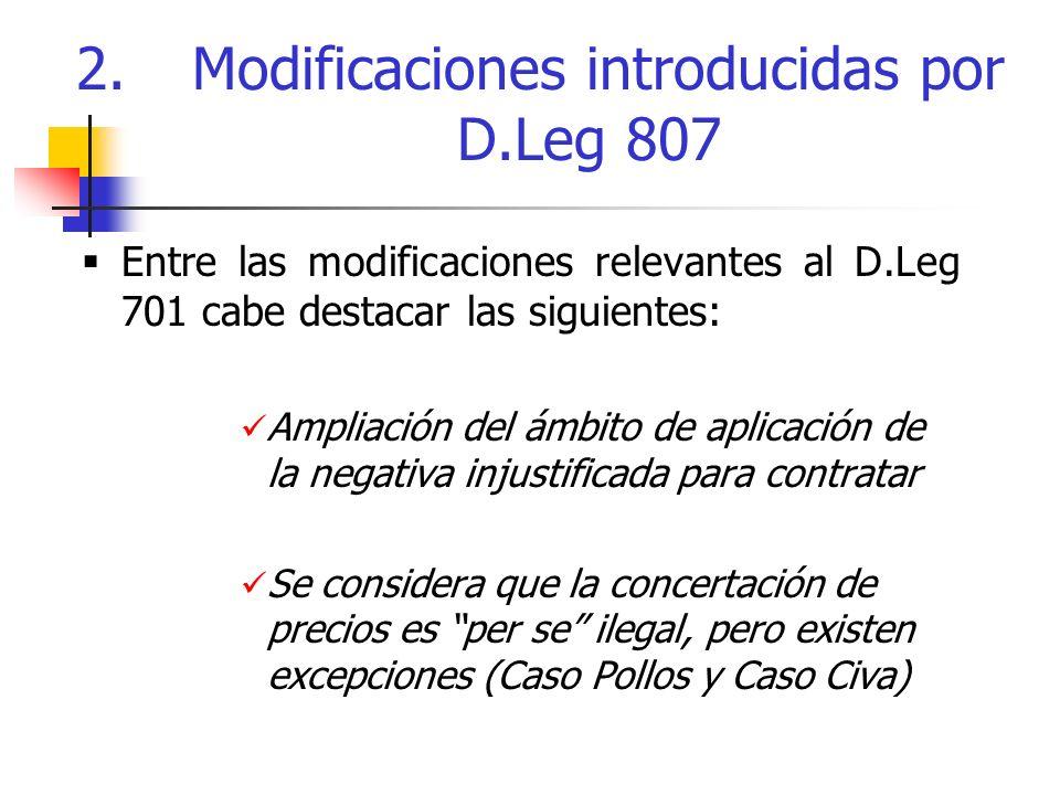 2. Modificaciones introducidas por D.Leg 807