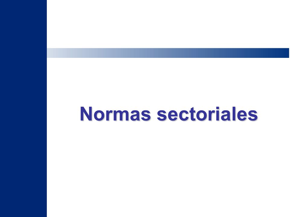 Normas sectoriales