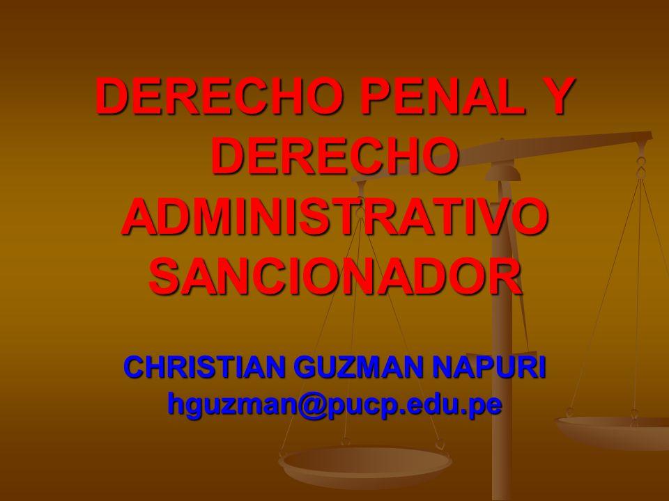 DERECHO PENAL Y DERECHO ADMINISTRATIVO SANCIONADOR