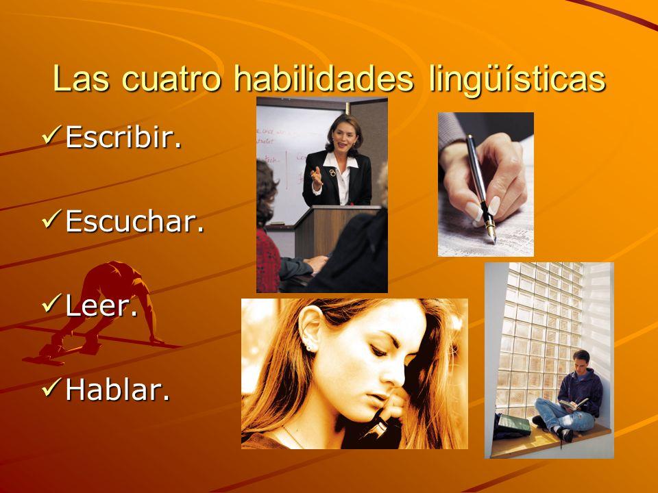 Las cuatro habilidades lingüísticas