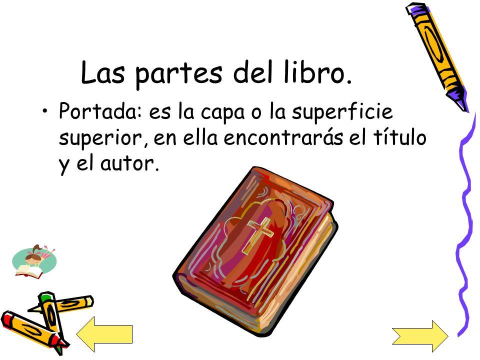 Las partes del libro.