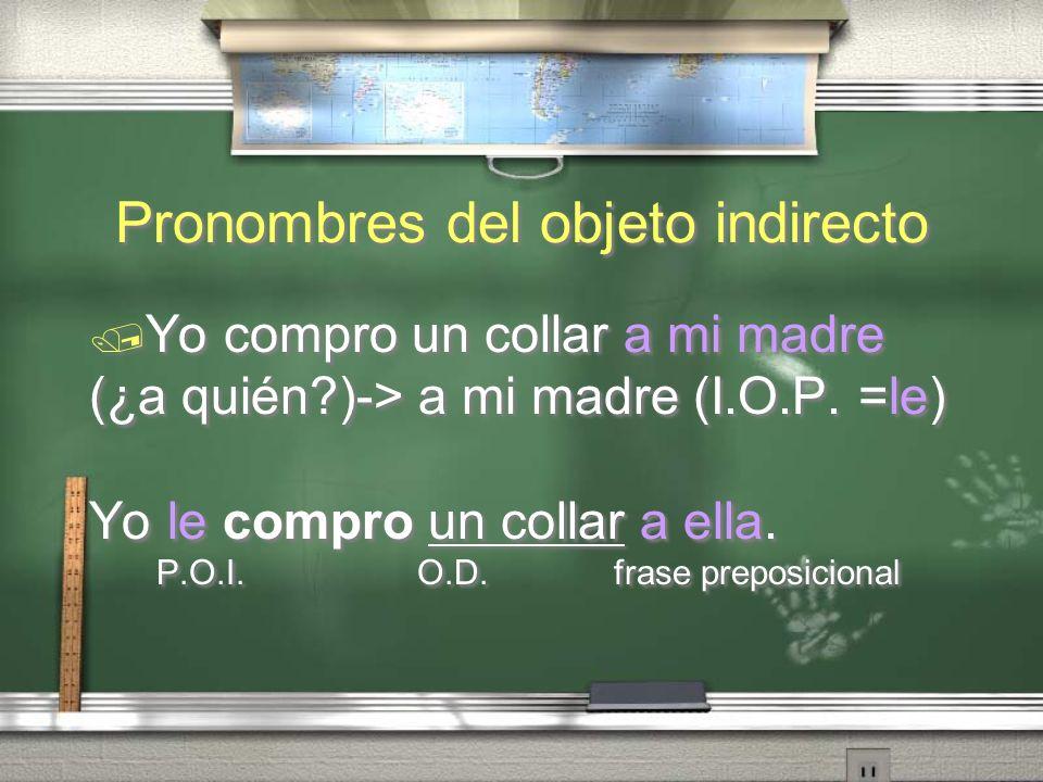 Pronombres del objeto indirecto