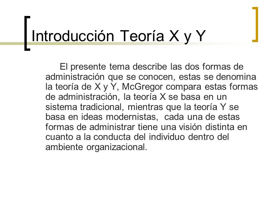 Introducción Teoría X y Y