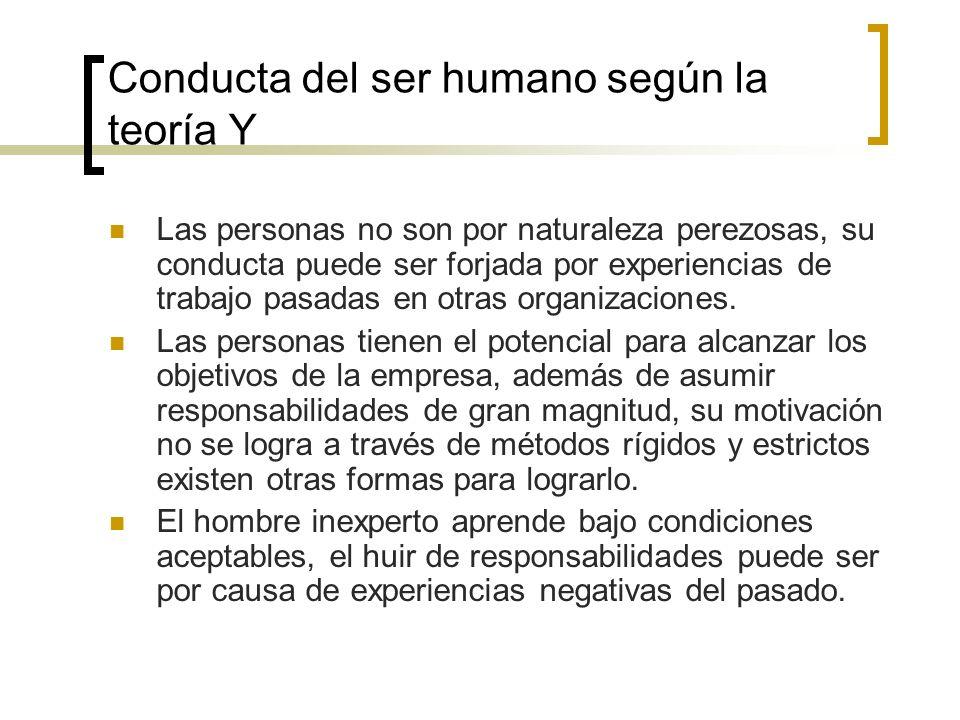 Conducta del ser humano según la teoría Y