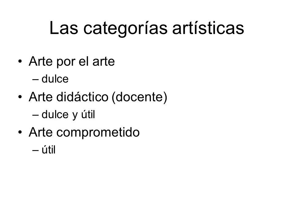 Las categorías artísticas