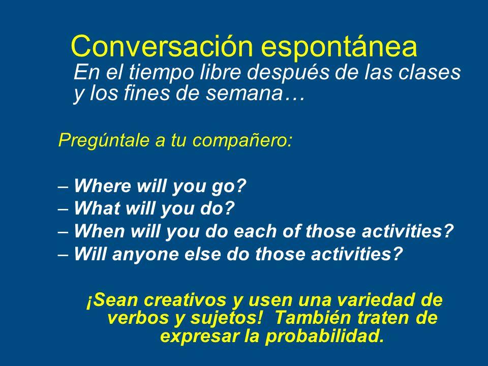 Conversación espontánea