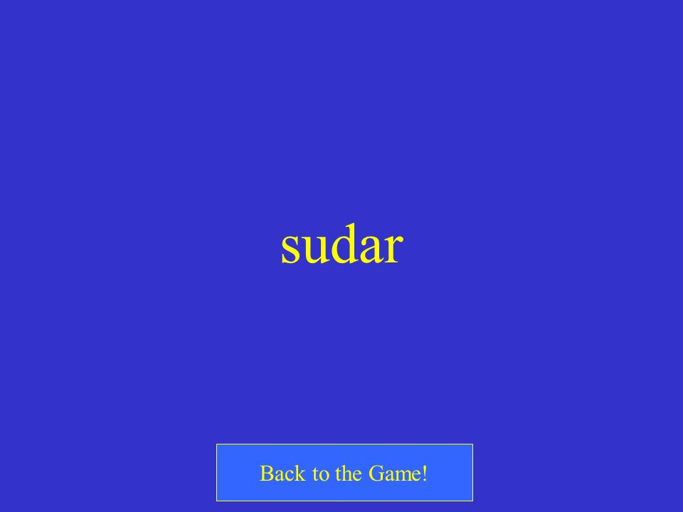 sudar Back to the Game!