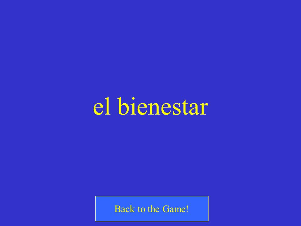 el bienestar Back to the Game!