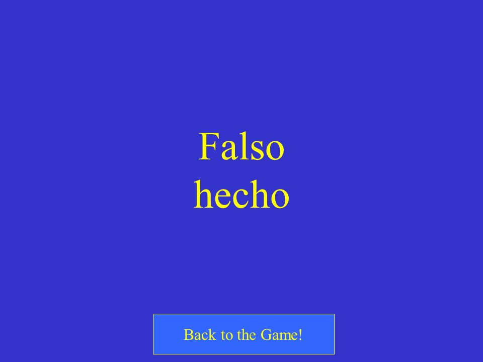 Falso hecho Back to the Game!