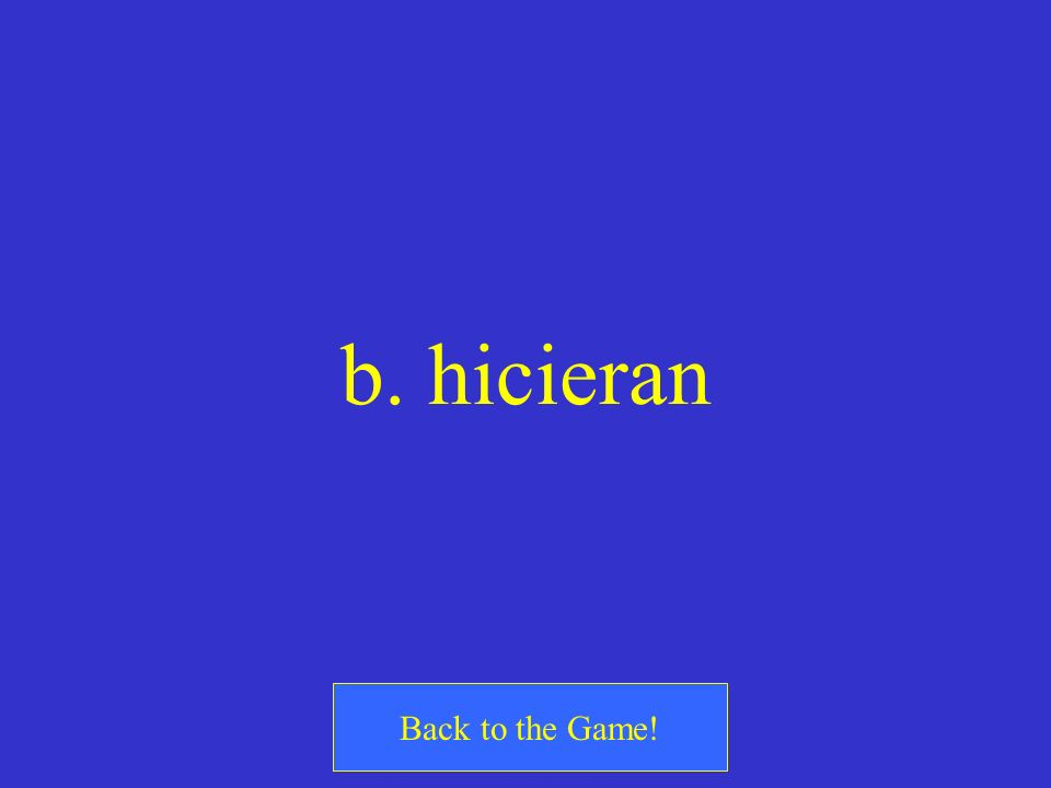 b. hicieran Back to the Game!