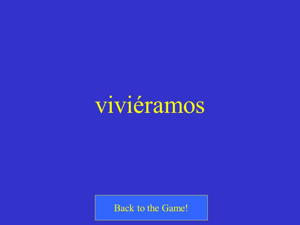 viviéramos Back to the Game!