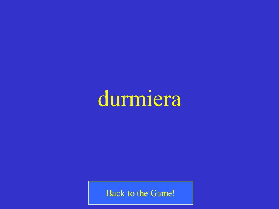 durmiera Back to the Game!