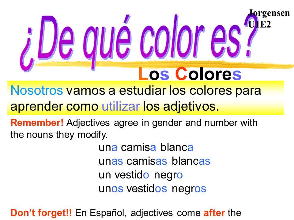 Los Colores ¿De qué color es