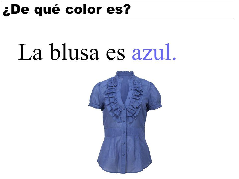 La blusa es azul.