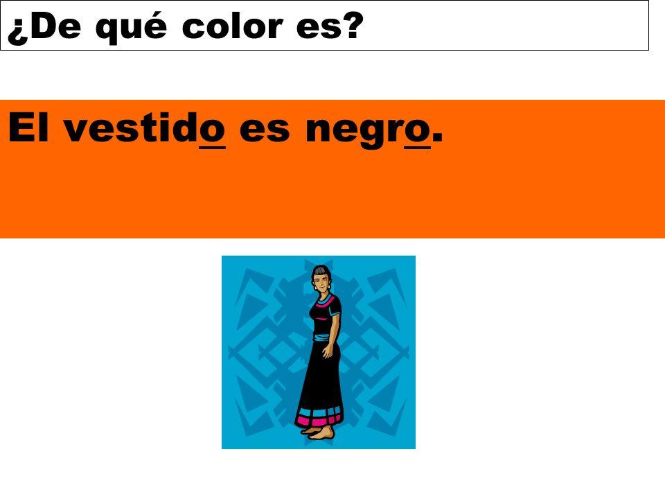 El vestido es negro.