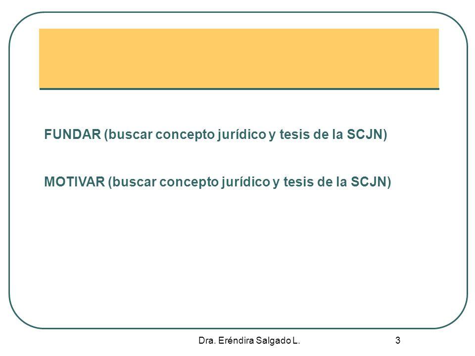 FUNDAR (buscar concepto jurídico y tesis de la SCJN)