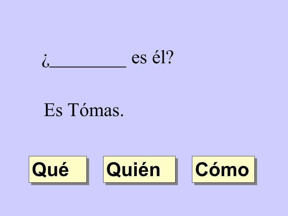 ¿________ es él Es Tómas. Qué Quién Cómo