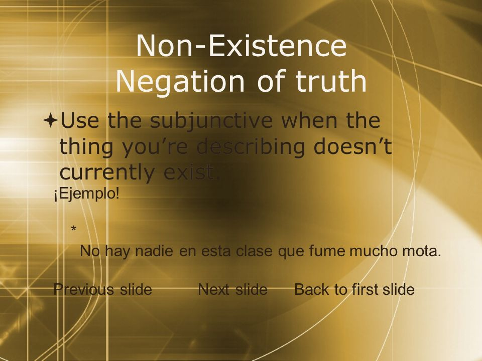 Non-Existence Negation of truth