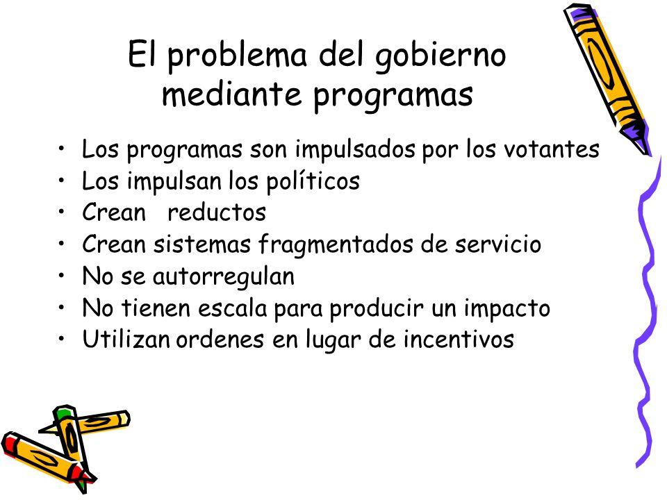 El problema del gobierno mediante programas