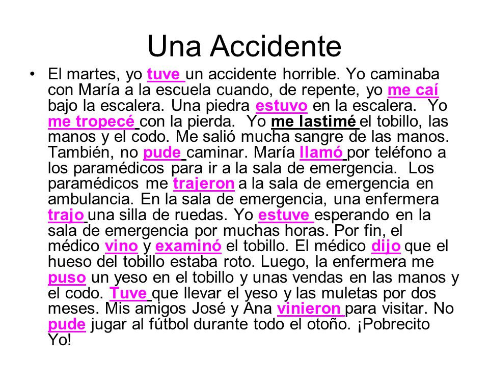 Una Accidente