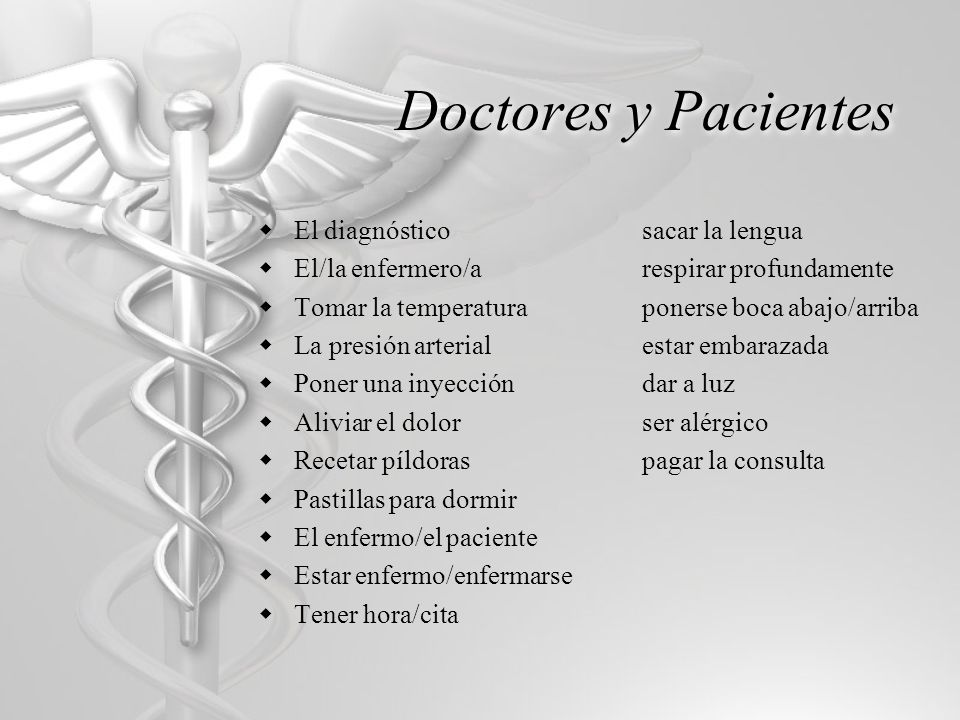 Doctores y Pacientes El diagnóstico sacar la lengua