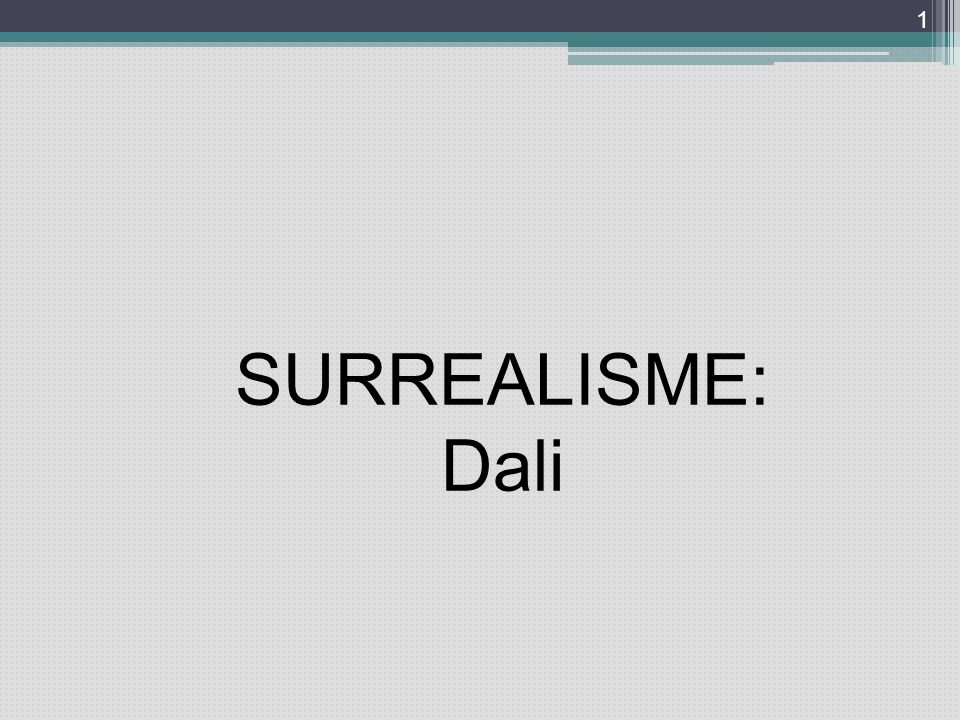 SURREALISME: Dali