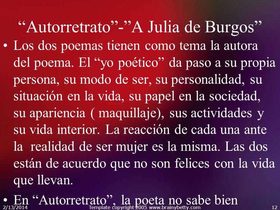 Autorretrato - A Julia de Burgos