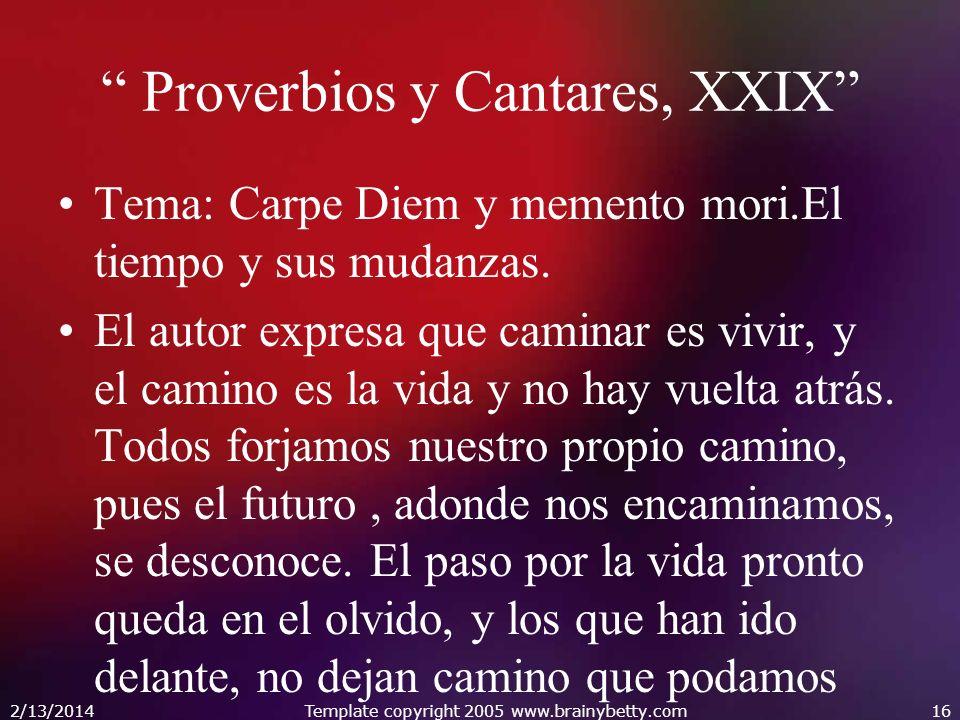 Proverbios y Cantares, XXIX