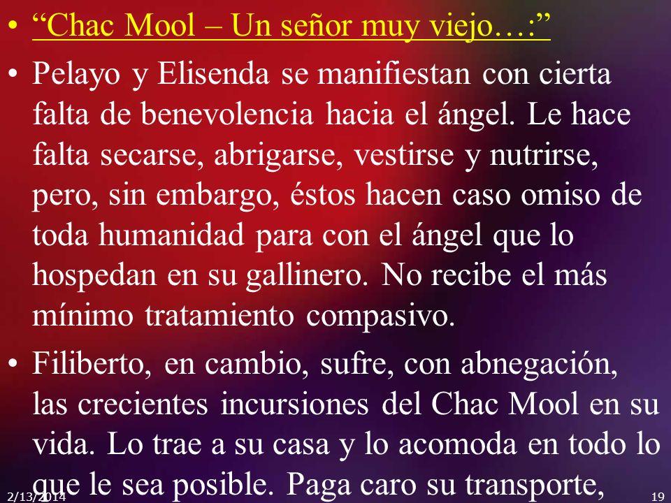 Chac Mool – Un señor muy viejo…:
