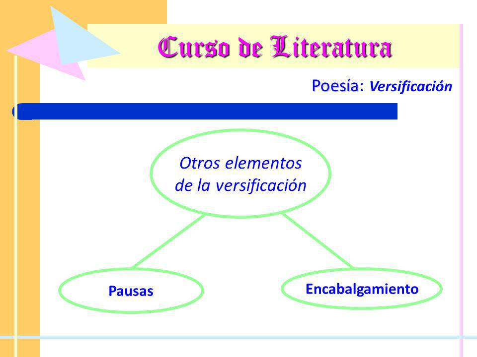 Curso de Literatura Poesía: Versificación Otros elementos
