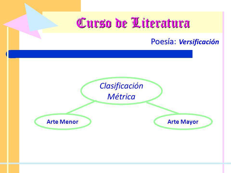 Curso de Literatura Poesía: Versificación Clasificación Métrica