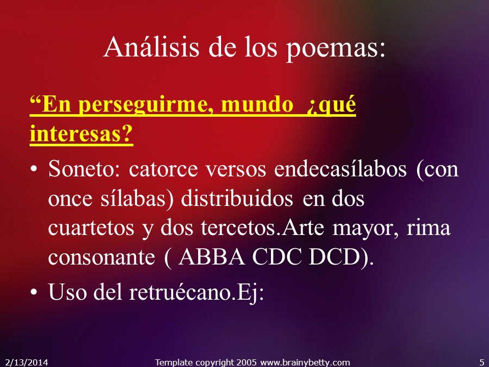 Análisis de los poemas: