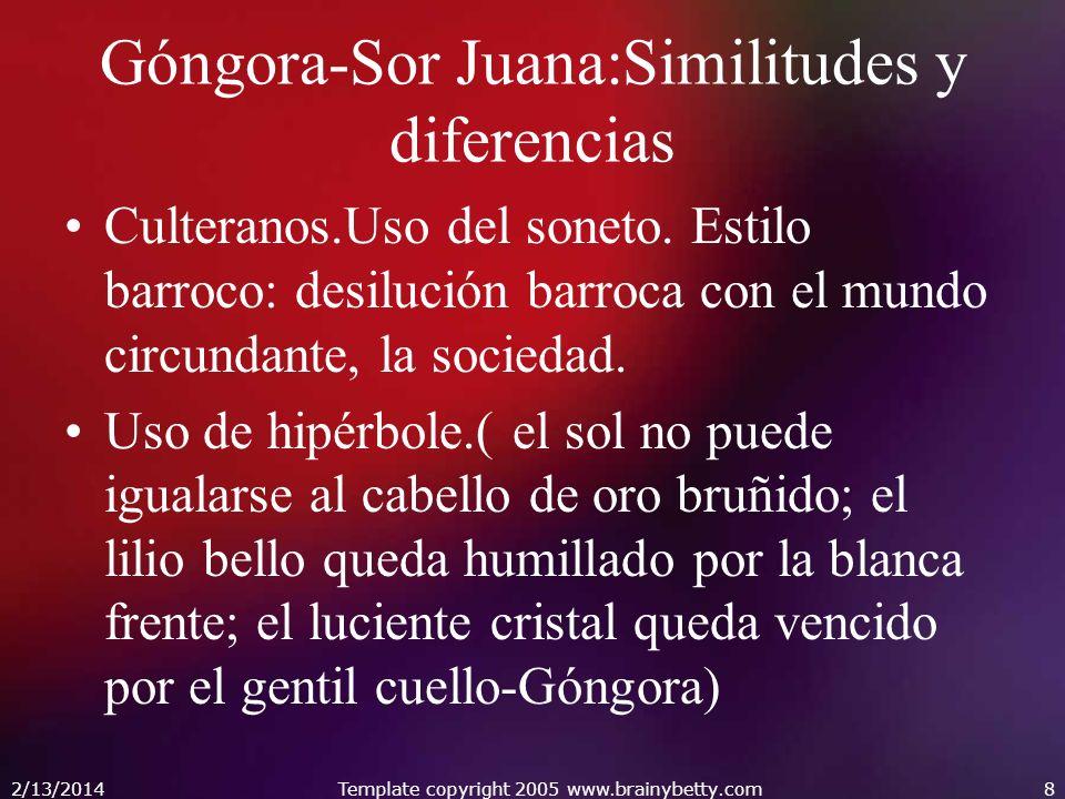 Góngora-Sor Juana:Similitudes y diferencias