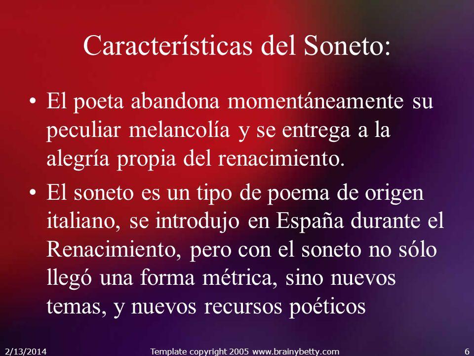 Características del Soneto:
