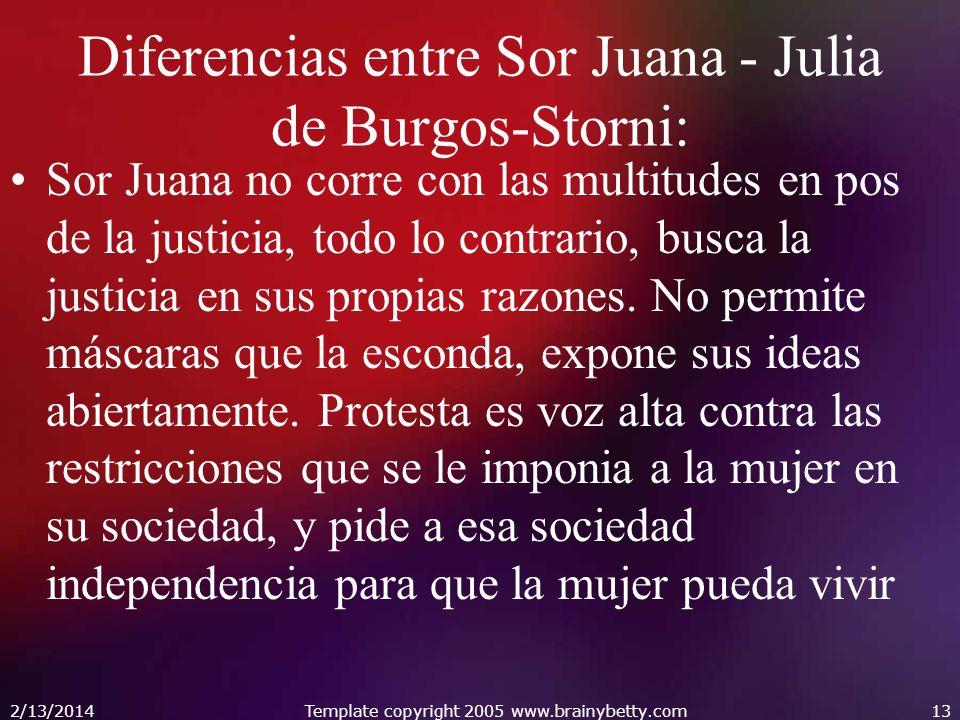 Diferencias entre Sor Juana - Julia de Burgos-Storni: