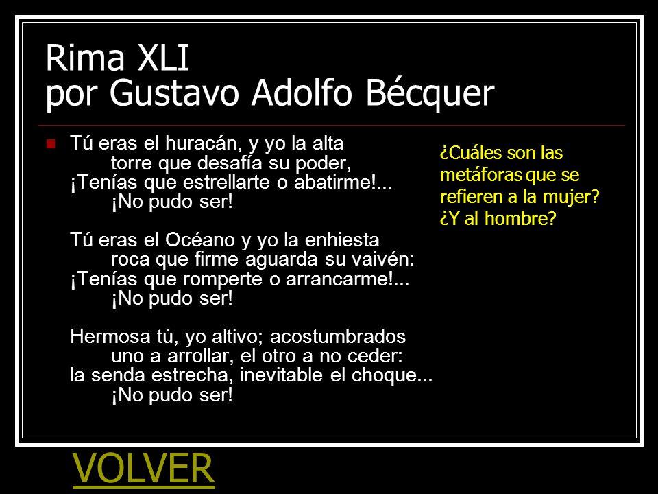 Rima XLI por Gustavo Adolfo Bécquer