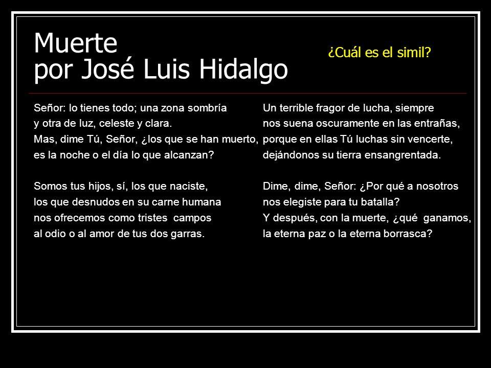 Muerte por José Luis Hidalgo