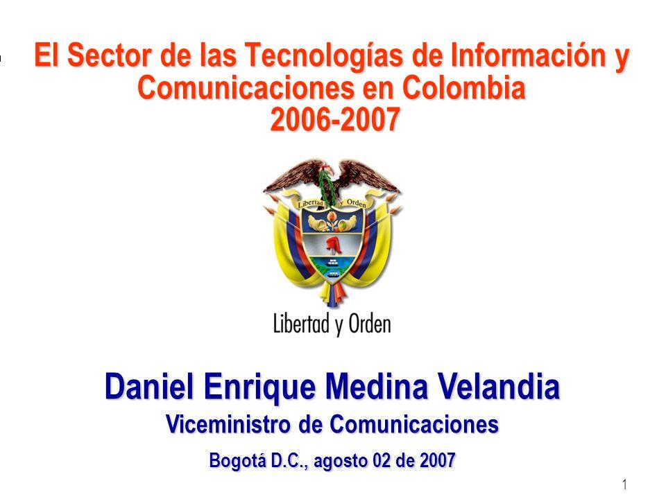Daniel Enrique Medina Velandia Viceministro de Comunicaciones