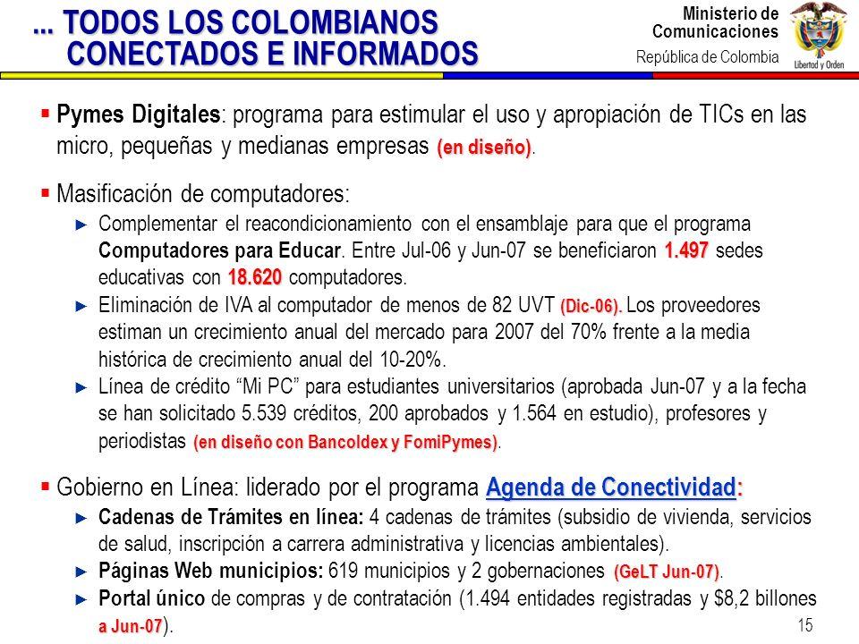 ... TODOS LOS COLOMBIANOS CONECTADOS E INFORMADOS