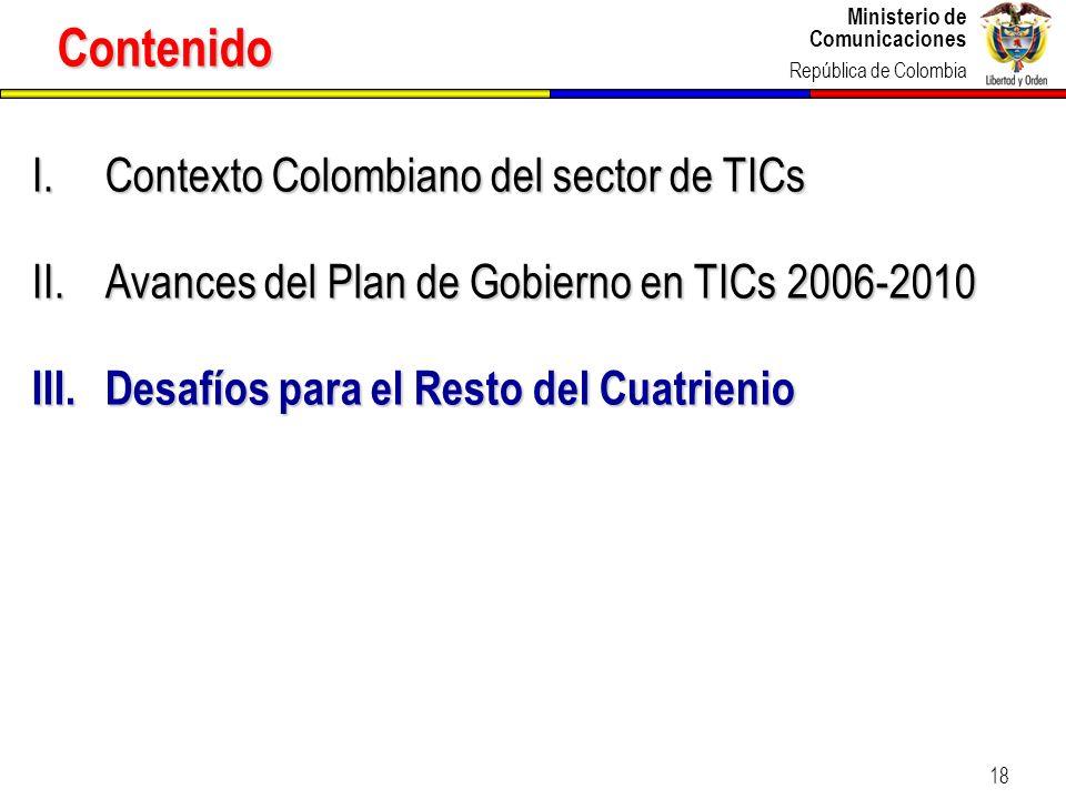 Contenido Contexto Colombiano del sector de TICs