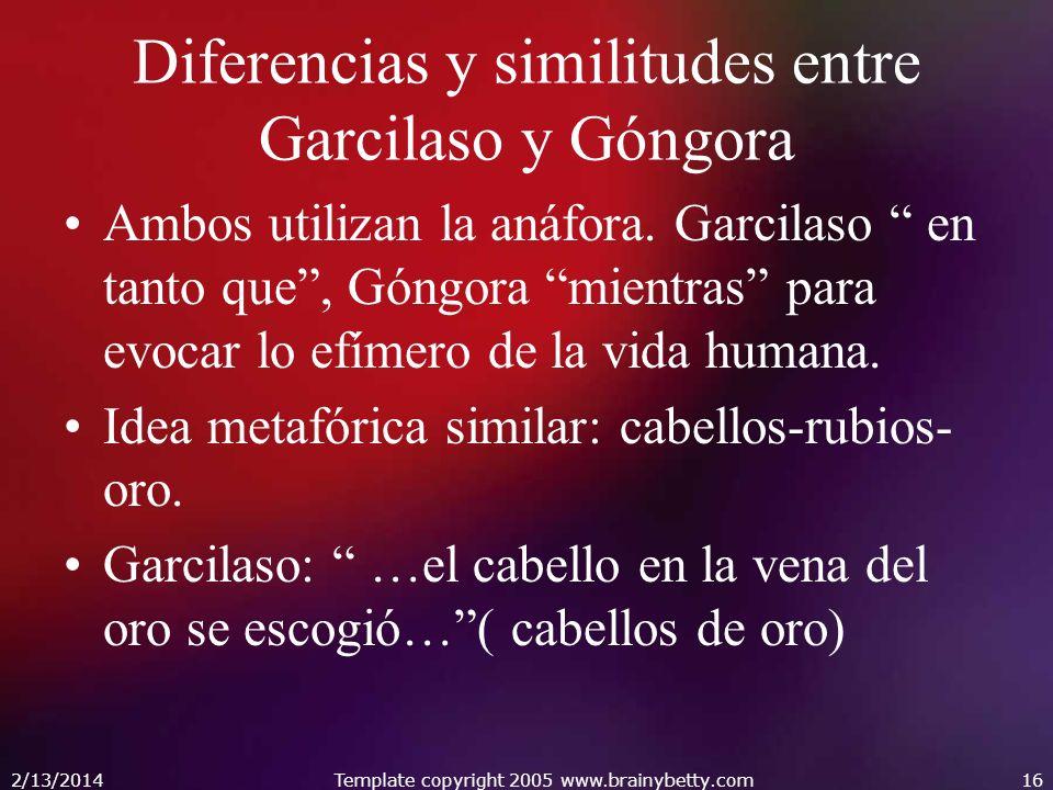 Diferencias y similitudes entre Garcilaso y Góngora