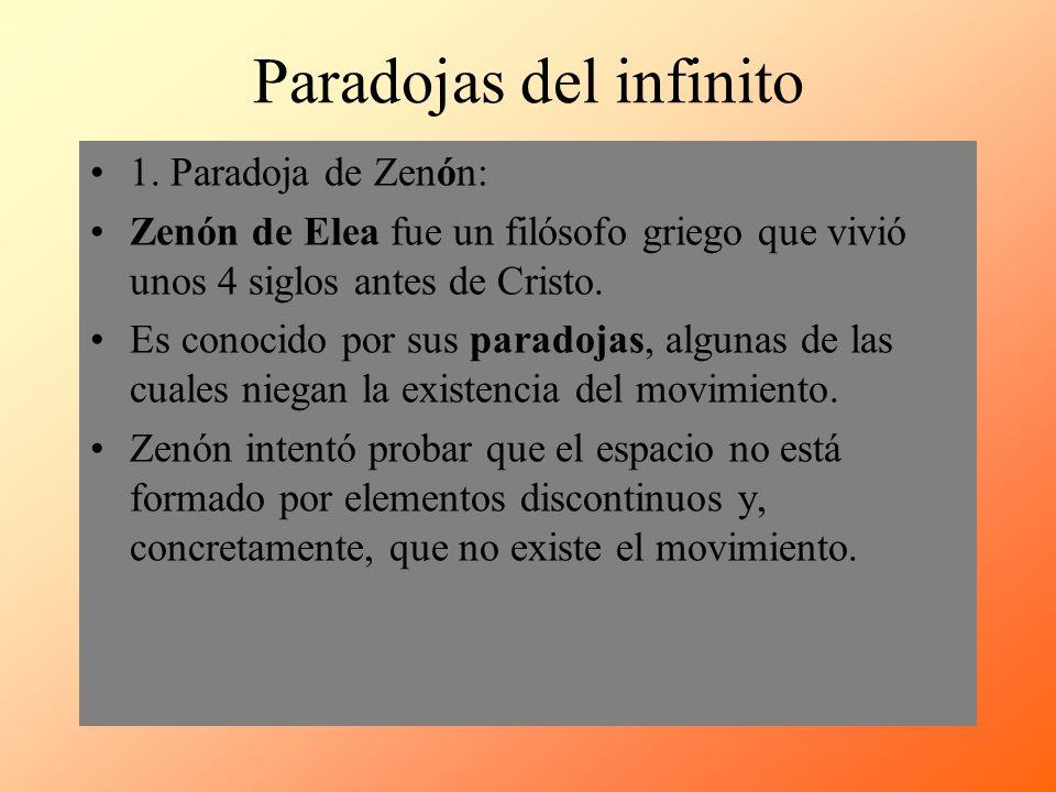 Paradojas del infinito