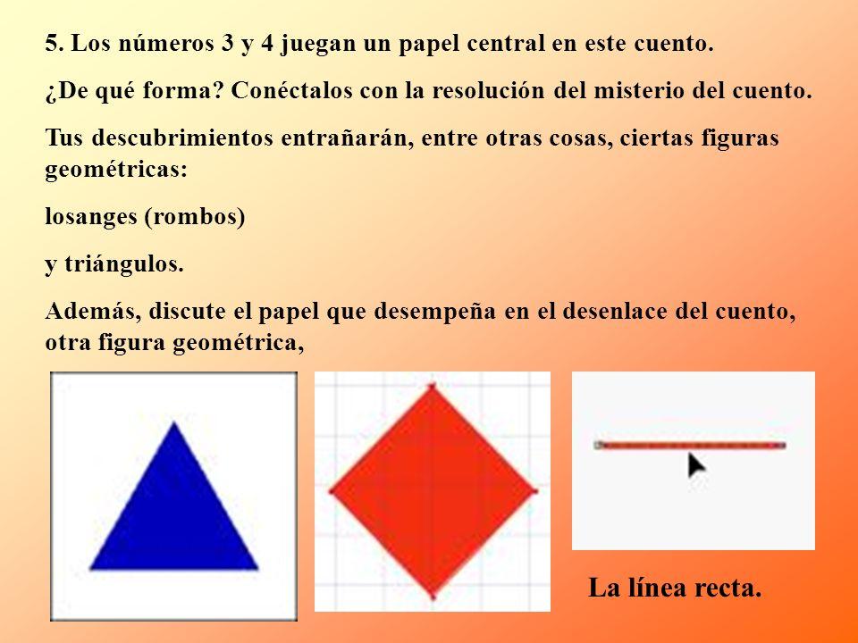 5. Los números 3 y 4 juegan un papel central en este cuento.