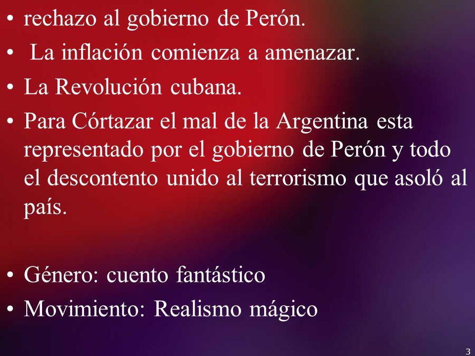 rechazo al gobierno de Perón.