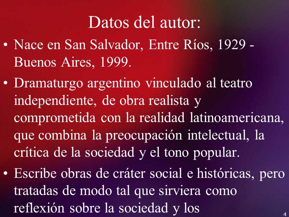 Datos del autor: Nace en San Salvador, Entre Ríos, 1929 - Buenos Aires, 1999.
