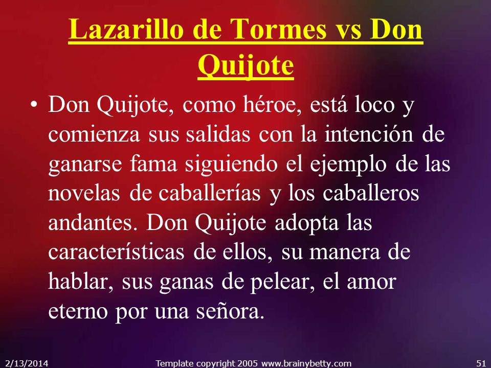 Lazarillo de Tormes vs Don Quijote