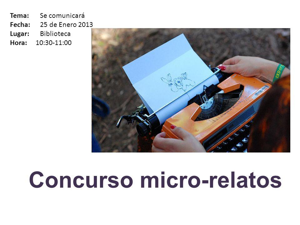 Concurso micro-relatos
