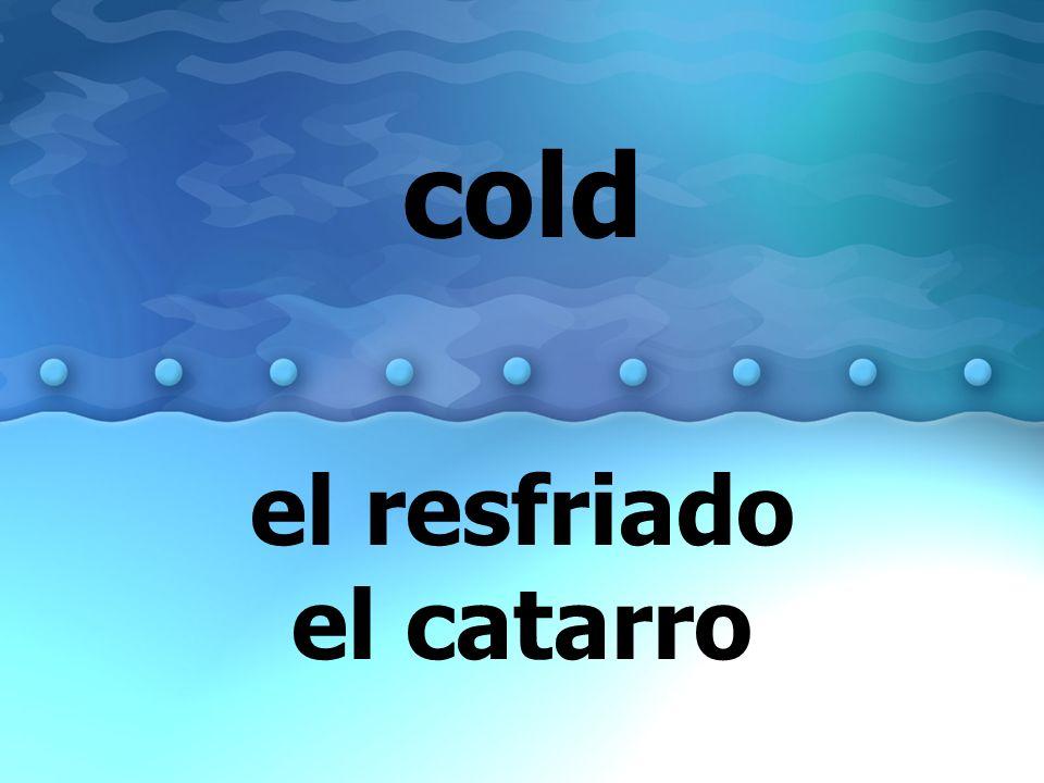 el resfriado el catarro